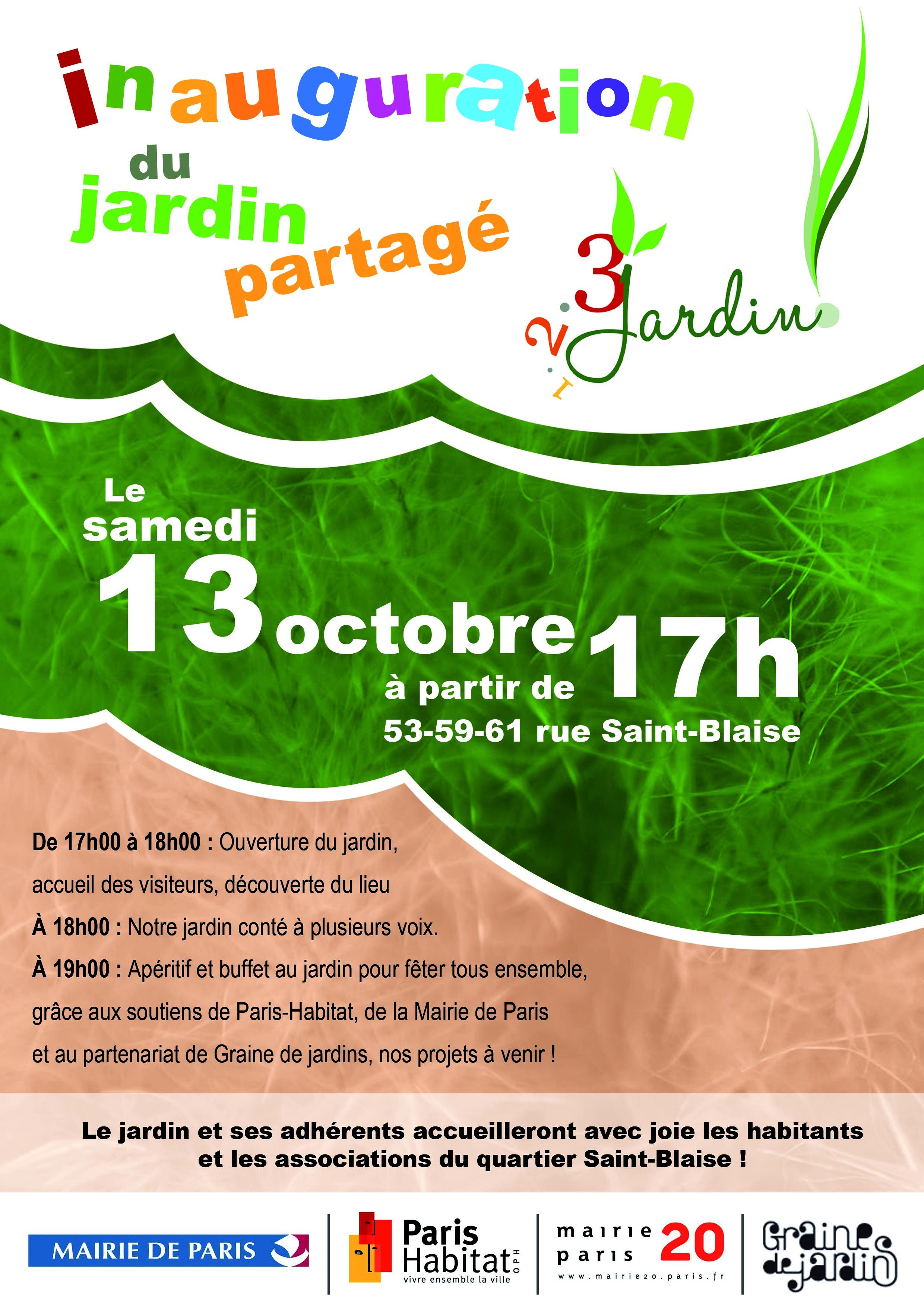 "Inauguration du jardin ""1 2 3 Jardin "" Jardinons ensemble"